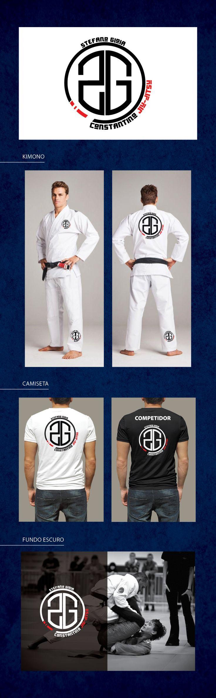 Jiu-jitsu - logo e aplicação   #jiujitsu #logo #bjj #kimono #martialarts