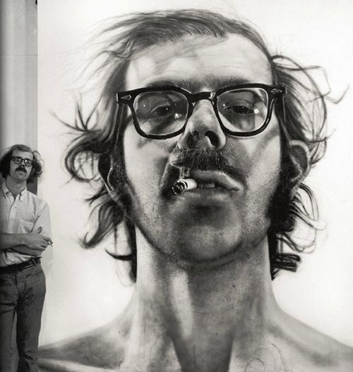"""Inspiration is for amateurs. The rest of us just show up and get to work. If you wait around for the clouds to part and a bolt of lightening to strike you in the brain, you are not going to make an awful lot of work. All the best ideas come out of the process; they come out of the work itself.""  ― Chuck Close"
