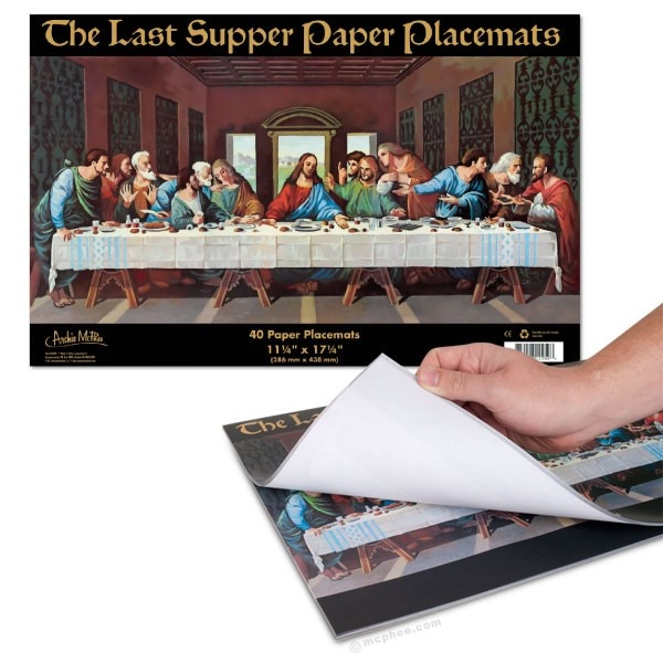 Last Supper Paper Placemats ~ Archie McPhee $8