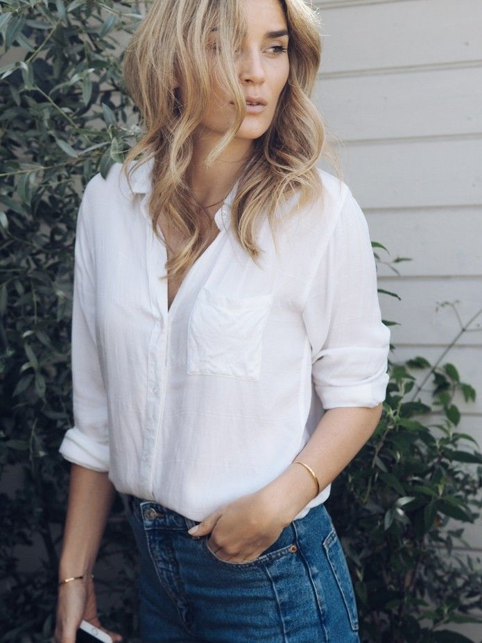 White shirt and jeans | @andwhatelse                                                                                                                                                     More