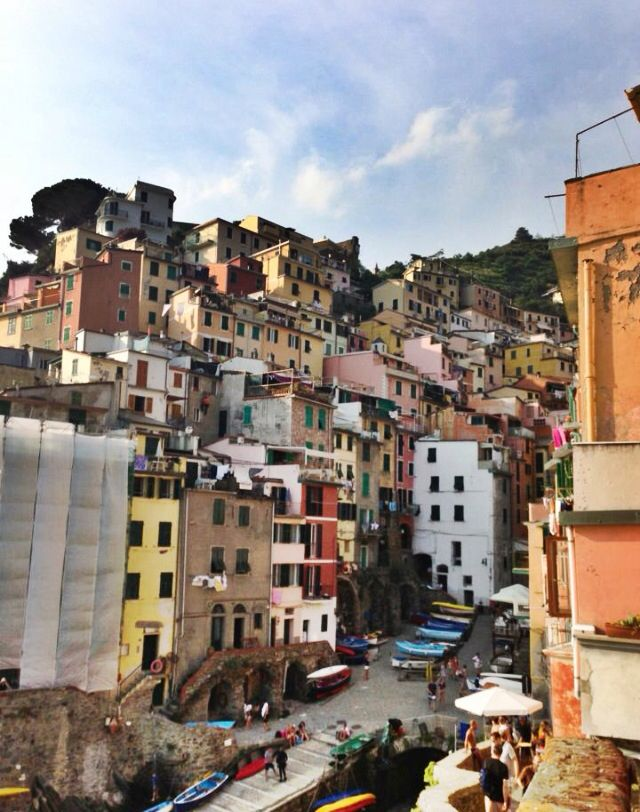 The colours of the houses in Cinque Terre could brighten anyone's day