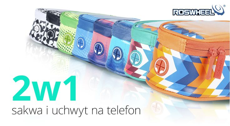 """Torba na rower 5,5"""" sakwa pokrowiec na telefon + kabel jack L zielona"""
