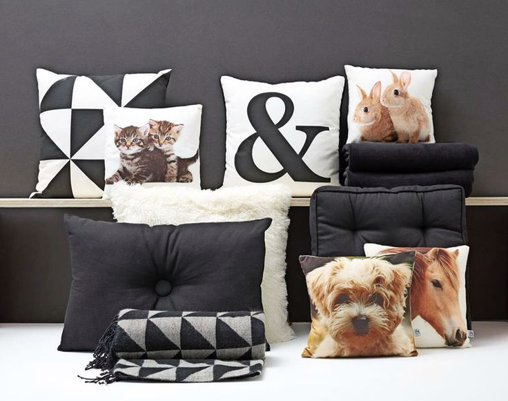 Black and white home decoration by JYSK