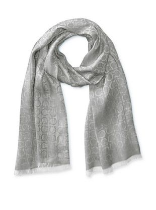 47% OFF Salvatore Ferragamo Men's Logo Scarf (Light Gray)