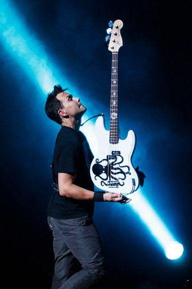 BLINK 182 Reunion Tour Opener: Mark Hoppus holding bass up Image - The Return of Blink-182 | Rolling Stone