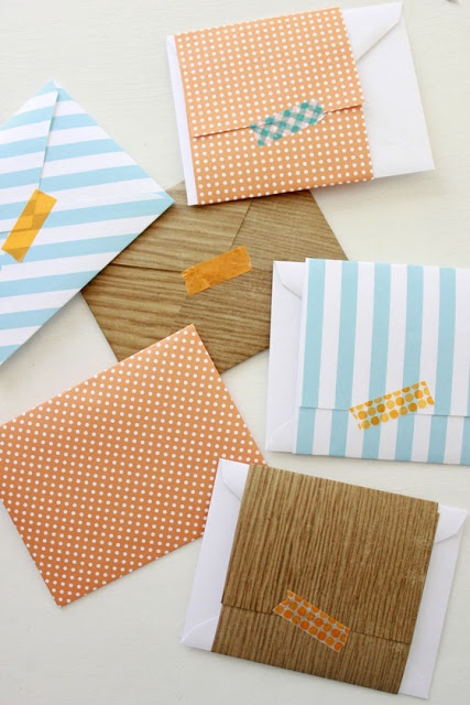 Lovely! ~ IY Washi Tape Stationary & Pencils
