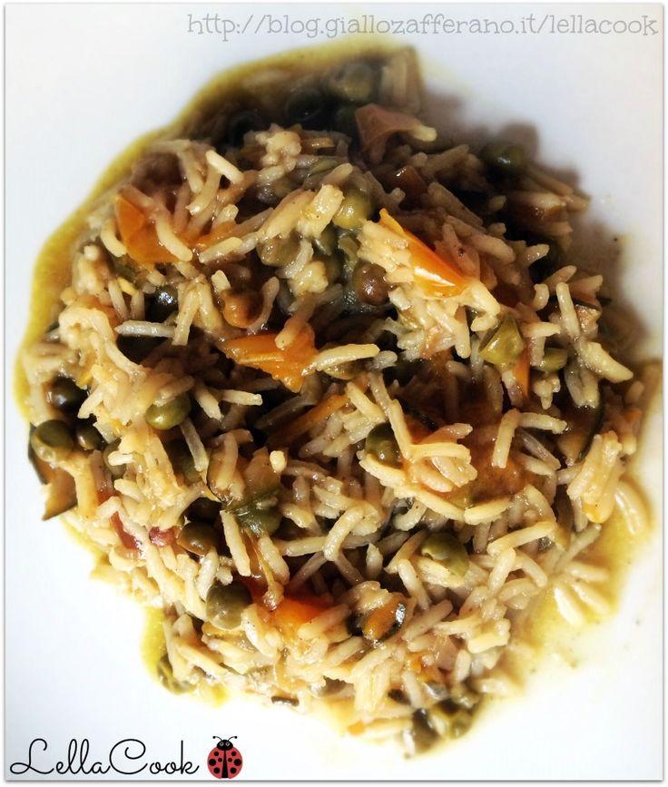 Riso basmati verdure e curry | LellaCook | Wellness Space