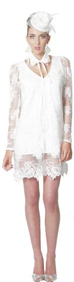 A vision in white. Liza Emanuele.