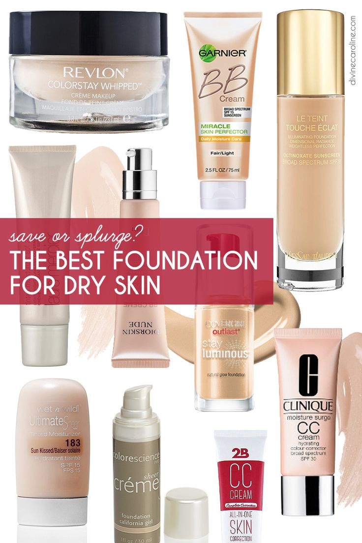 Finding the best foundation for dry skin just got easier with this guide to amazing products that work within your makeup budget. #Makeup #Foundation