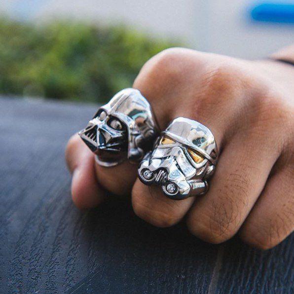 Star Wars Rings by Han Cholo - $65   #starwars #rings #steampunk #stormtrooper #darthvader #chewbacca #cool #styish #gear