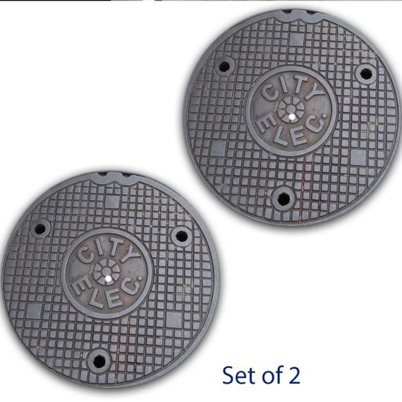 Dj Set Of 2 Manhole Cover 3 City Sewer Dj 12 Inch Slipmat Turntable Vinyl Audiophile Dj Djing 16 Oz In 2020 Turn Table Vinyl Slipmats Felt Material