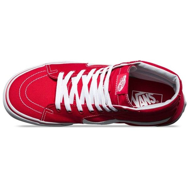 Vans Canvas SK8-Hi ($60) ❤ liked on Polyvore featuring men's fashion, men's shoes, men's sneakers, mens lace up shoes, mens high top shoes, mens canvas sneakers, mens cap toe shoes and mens high top sneakers