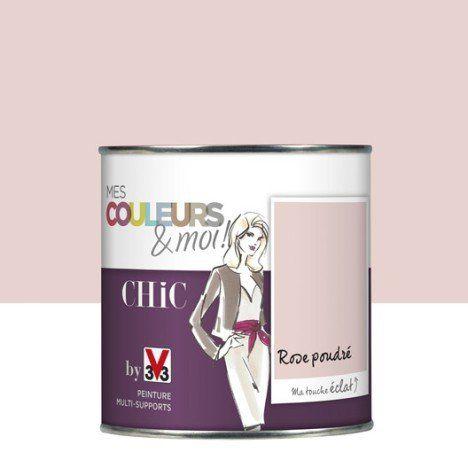 Peinture multisupports Mes couleurs et moi Chic V33, rose poudré, 0.5 L