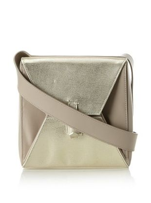 64% OFF J Apostrophe Women's Lucca Square Cross-Body Bag, Gold