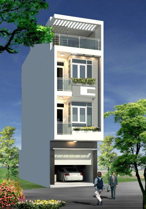Thiết kế nhà phố hiện đại có gara ở Tỉnh Lạng Sơn, thiết kế nhà đẹp hiện đại, mẫu nhà phố giá rẻ, mặt tiền rộng ở tại lạng sơn, thiết kế nhà năm 2017