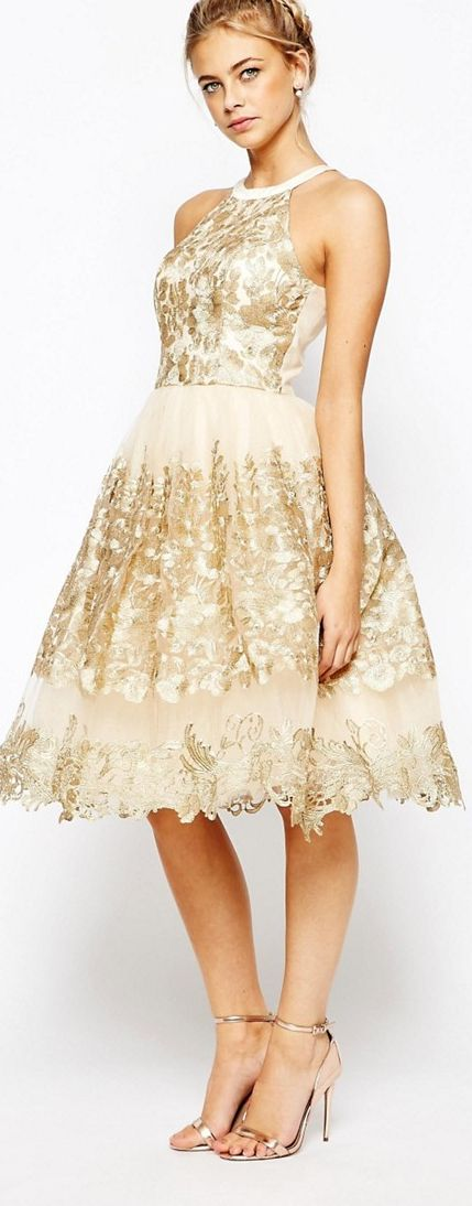 Golden girl dress by Chi Chi London #dress #gold