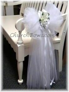 Ideas To Use Tulle In Church For Wedding (Source: churchbows.com)