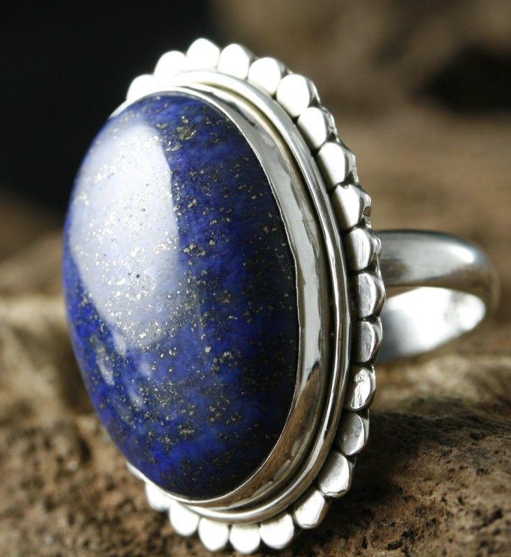 Lapis Lazuli Ring,Sterling Silver Lapis Lazuli Ring Size S Weighs 14 4 grams Oval in shape measuring 34mm x 24mm Lapis Lazuli Awakens spirituality Stimulates the