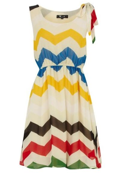 zig zag.: Summer Dress, Style, Chevron Pattern, Dorothy Perkins, Zigzag Chiffon, Chiffon Dresses, Chevron Stripes, Cream Zigzag