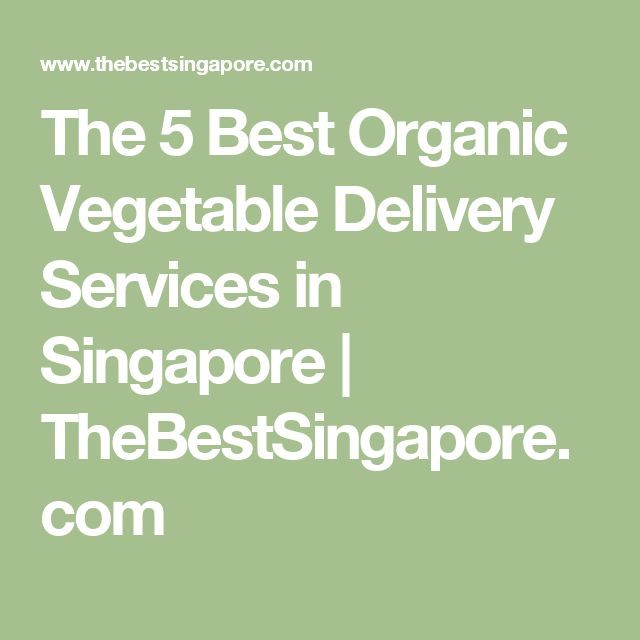 The 5 Best Organic Vegetable Delivery Services in Singapore | TheBestSingapore.com