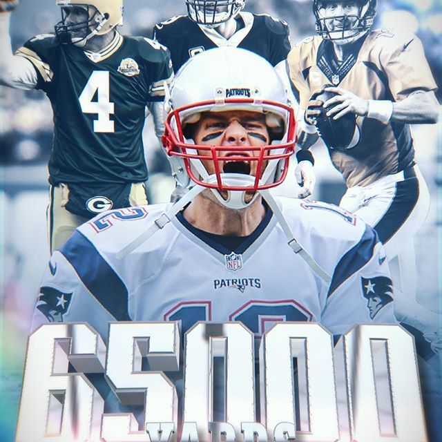 Tom Brady has joined Peyton Manning, Brett Favre and Drew Brees as the only players in @NFLhistory to record 65,000 career passing yards!
