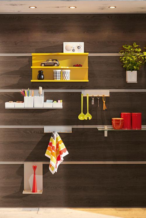 Perfekte Organisation An Der Wand: Das Paneelsystemmit Verschiedensten  Ordnungshelfern. Mehr Ideen Zur Küchenplanung Gibts