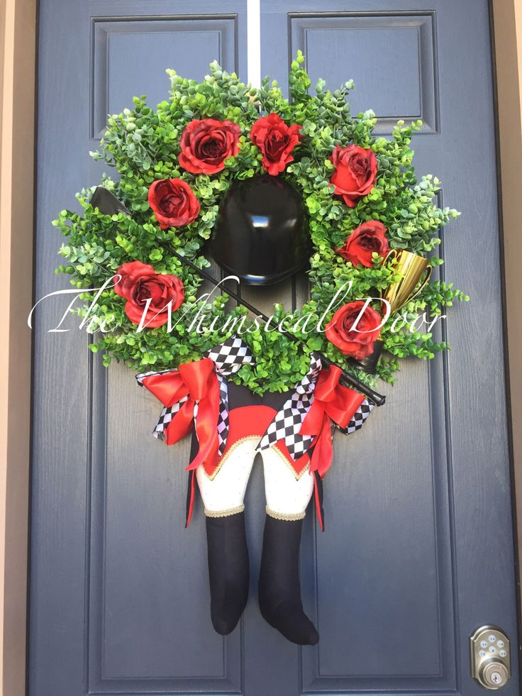 A personal favorite from my Etsy shop https://www.etsy.com/listing/278785180/kentucky-derby-wreath-jockey-wreath