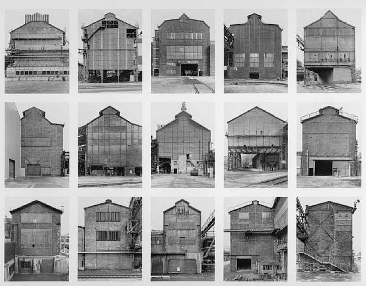 Typology photography. Bernd & Hilla Becher - Industrial Facades (1984-94)