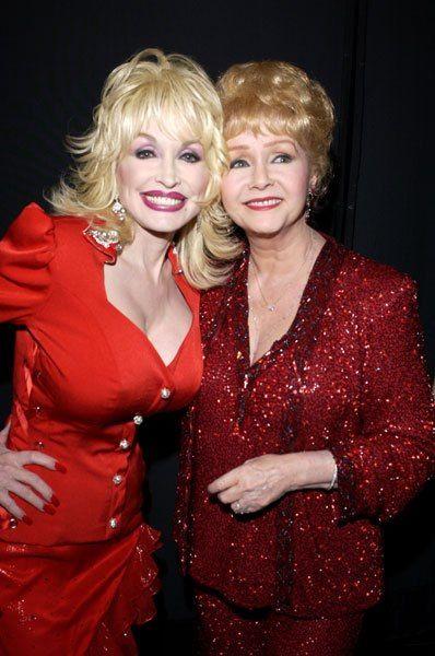 Dolly Parton, 67 & Debbie Reynolds, 81