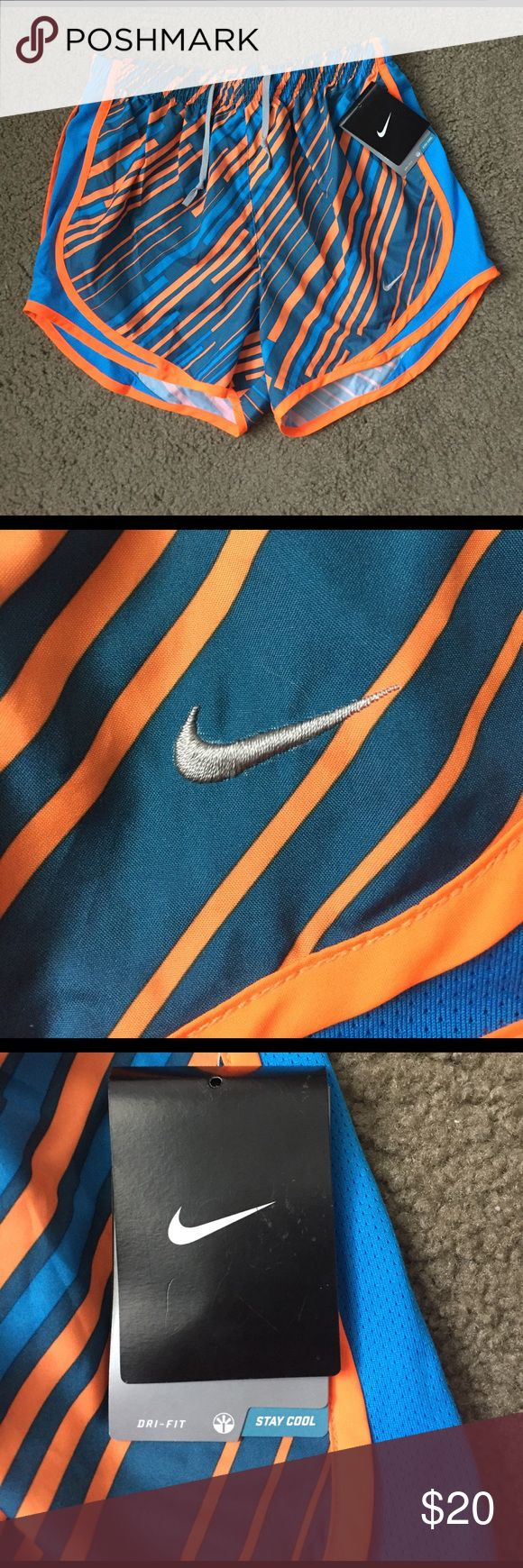 Nike Dri Fit Stay Cool Shorts Brand New Blue and Orange Dri Fit Stay Cool Running Shorts. Nike Shorts