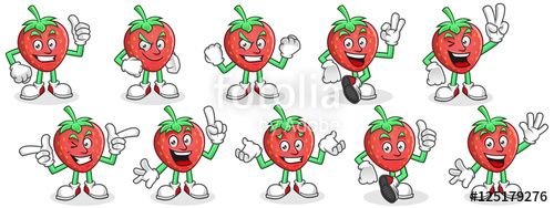 "Download the royalty-free vector ""Mascot set of Strawberry. Strawberry character pack. Vector set of Strawberry mascot."" designed by ednal at the lowest price on Fotolia.com. Browse our cheap image bank online to find the perfect stock vector for your marketing projects!"