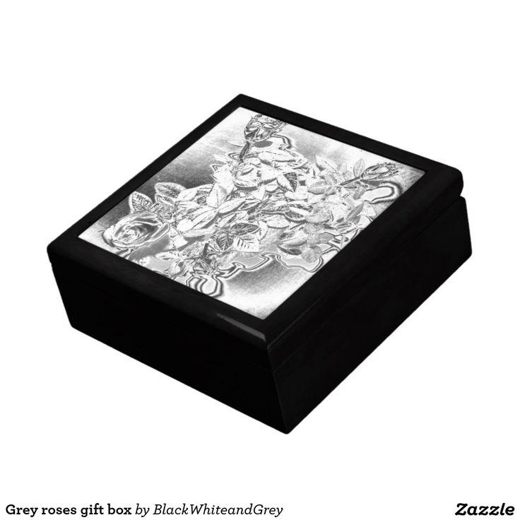 Grey roses gift box