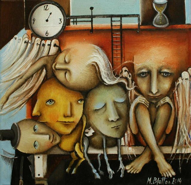"BLATTON - ""WAITING ROOM OF SOULS""   #fineart #oilpainting #oilpaintingoncanvas #artist #artists #painter #painters #painting #paintings #oilpaintings #oiloncanvas #artwork #figurativeart #portrait #contemporaryart #modernart #dailypainting #Blatton #MonicaBlatton"