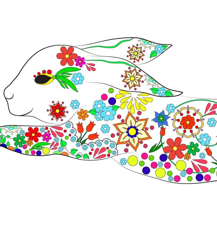 Fragment of bunny (vector, black-and-white and color picture) See more Here - http://www.istockphoto.com/portfolio/evgeniya%20panova?excludenudity=true&mediatype=illustration&sort=best