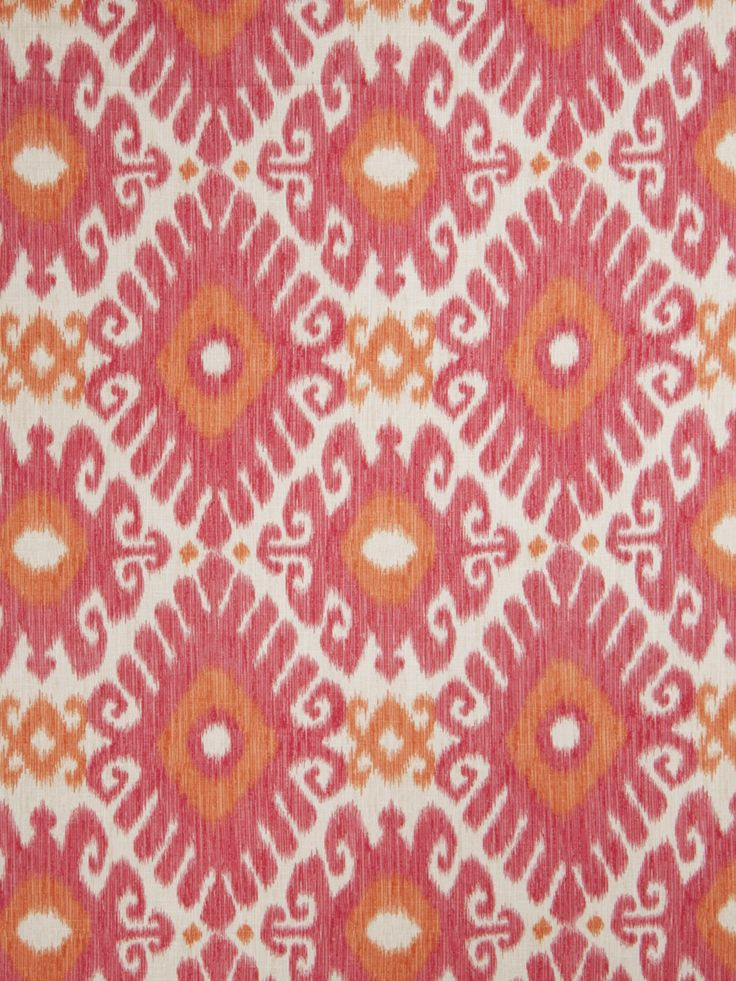 Orange and Pink Linen Ikat Upholstery Fabric by the Yard - Ikat for Furniture - Tangerine Curtain Material - Pink Ikat Pillows - Ikat Online by PopDecorFabrics on Etsy https://www.etsy.com/listing/168714195/orange-and-pink-linen-ikat-upholstery