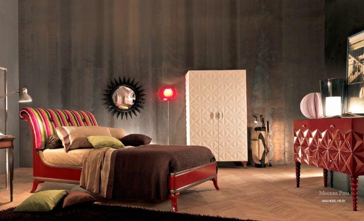 Double bed Art.C456 by Bizzotto S.r.l., Italy. Кровать двуспальная Art.C456 от итальянского производителя Bizzotto S.r.l. в стиле фьюжн. #designinterior #interior #furniture #mebelmr