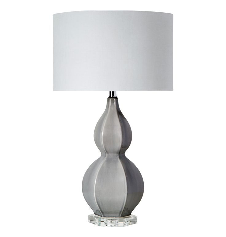Buy layla table lamp gray from interlude on dering hall