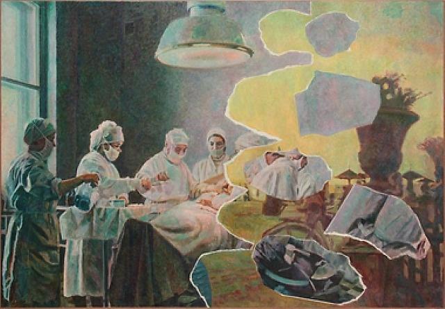 Ilya & Emilia Kabakov. painted collage. Art Experience NYC www.artexperiencenyc.com