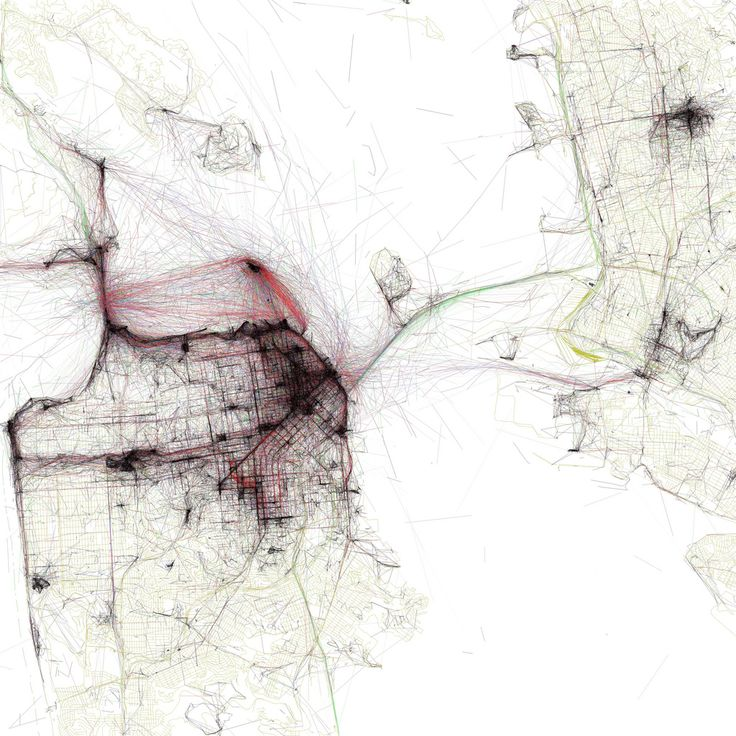 The Geotaggers' World Atlas #4: San Francisco: Derived from Flickr data and based on the OpenStreetMap.