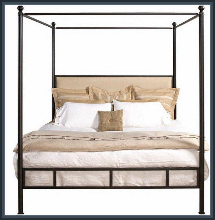 Amazing Iron Canopy Twin Bed Design Interior More Design