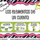 8 pages of teaching aides/posters for story elements in Spanish Included: Título, Autor, Ilustrador, Personajes, El personaje principal, El lugar, ...