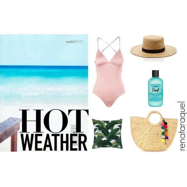 Beach mood by renatabarroso on Polyvore featuring Eberjey, Janessa Leone and Bumble and bumble