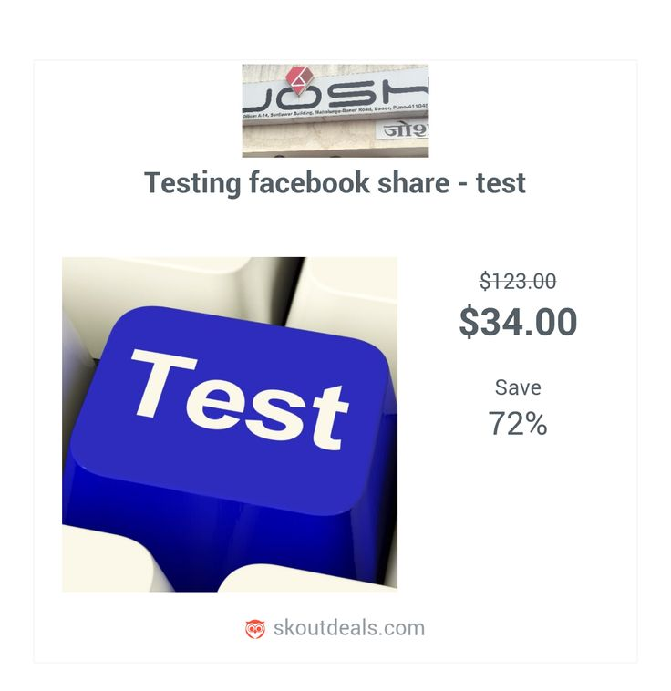 Created for testing facebook share functionality.