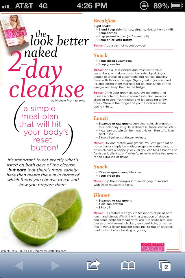2-Day Detox Cleanse to kickstart your diet!