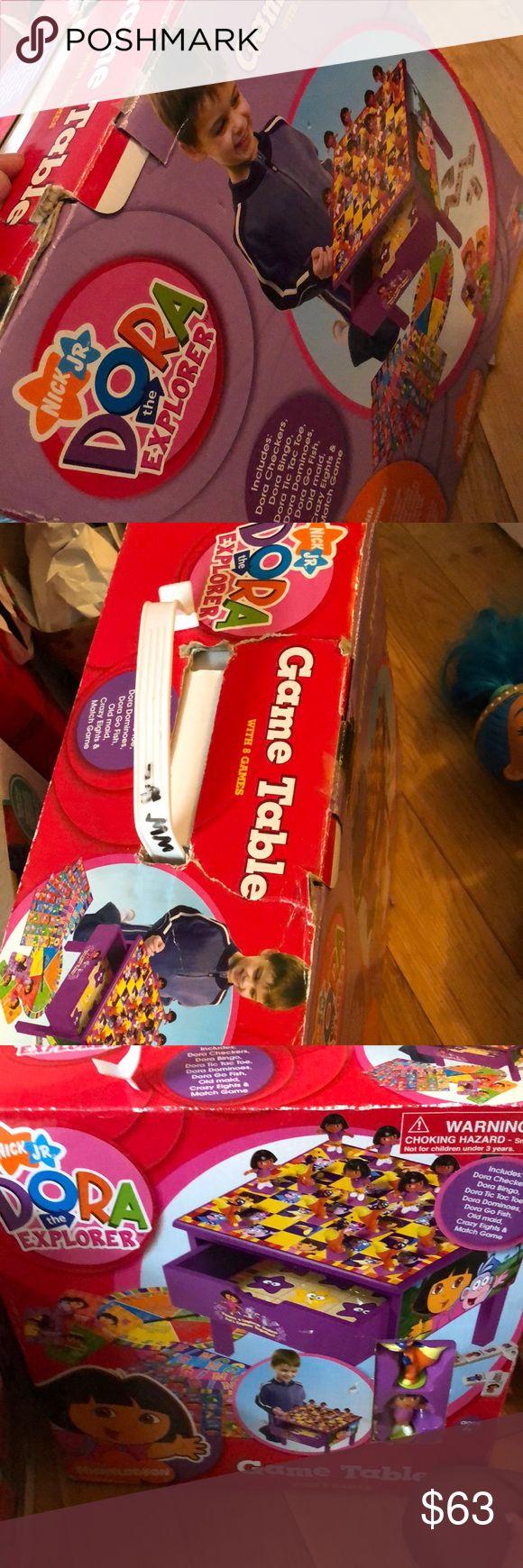 Kids game table Brand new never opened Dora the Explorer