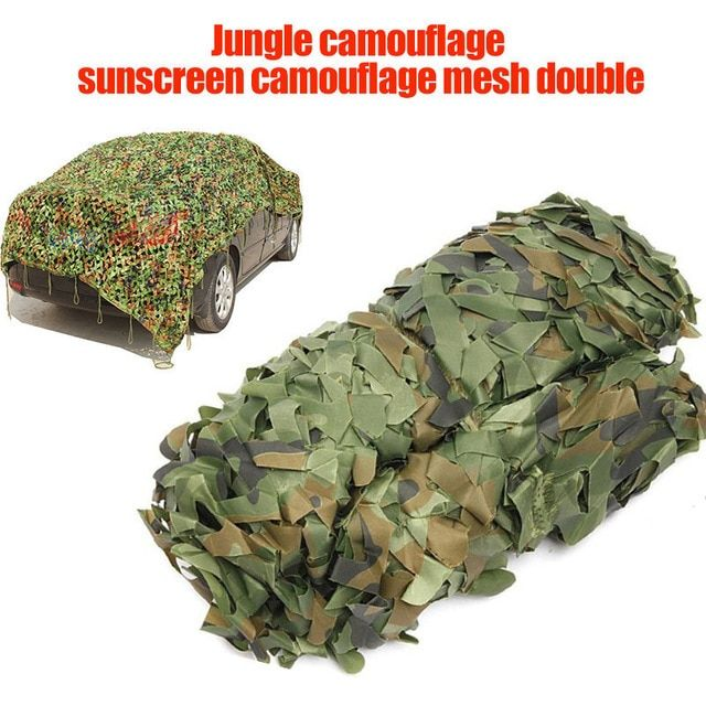 Durable Woodland Leaves Camouflage Camo Army Net for Camping Hunting 2m x 3m