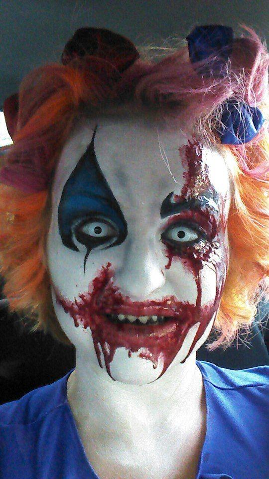 Killer u0027bloody facedu0027 Clown make up idea Paired