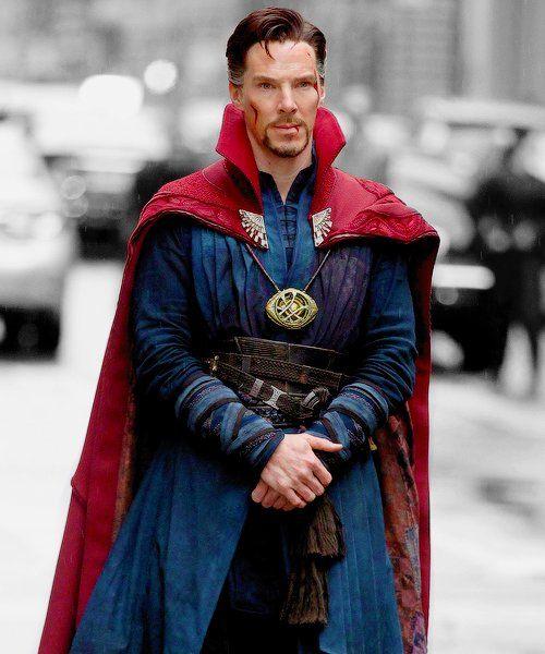 DOCTOR STRANGE ~ Benedict Cumberbatch filming in New York City on April 2, 2016.