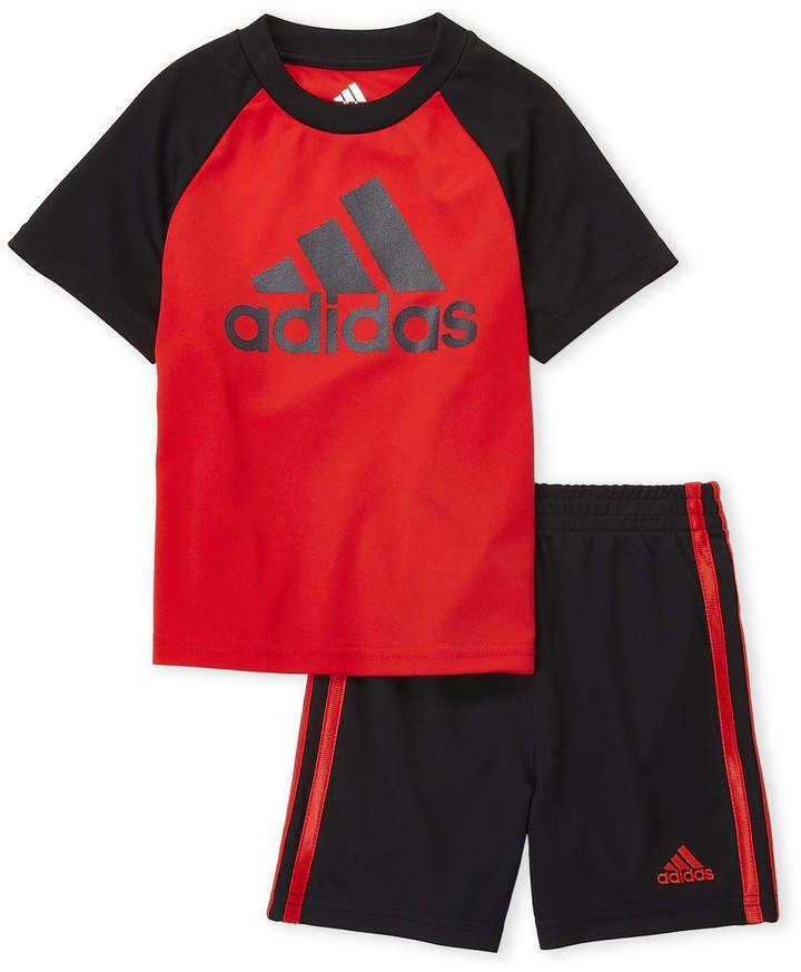6b1d6095d7f7 adidas Toddler Boys) Two-Piece Logo Raglan Tee   Basketball Shorts ...