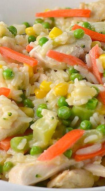 20 Minute Chicken & Rice Dinner Recipe
